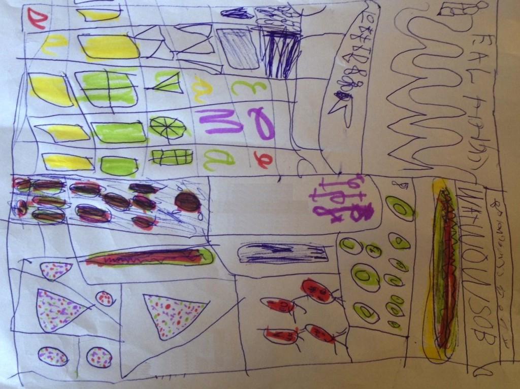 Der Plan meiner Tochter zum Füllen ihres Jubako für das nächste Neujahrsfest