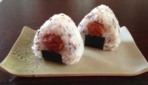 Yukari onigiri with umé boshi