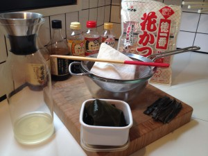 Set-up to make dashi