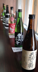 Sake Line-up: Tasting of different production methods