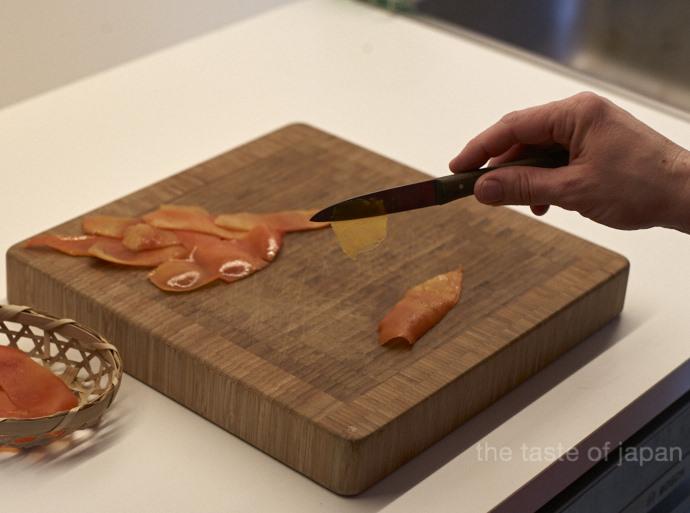 Fruchtfleisch entfernen