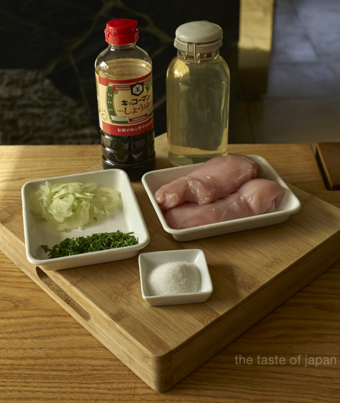 Iain Ingredients for Oyakudon (without sake and mirin)