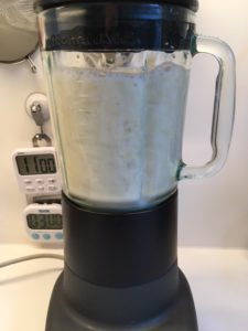 It is easy to make soy milk using a blender